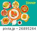 食 料理 食べ物のイラスト 26895264