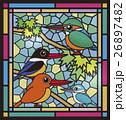 野鳥のステンドグラス 26897482