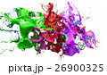 liquid ink colourful eplosion. 3d illustration 26900325