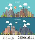 のぼり バナー 山のイラスト 26901611