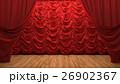 red velvet curtain opening the scene 26902367