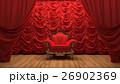 red velvet curtain opening the scene 26902369
