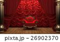 red velvet curtain opening the scene 26902370