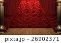 red velvet curtain opening the scene 26902371