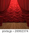 red velvet curtain opening the scene 26902374