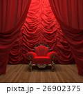 red velvet curtain opening the scene 26902375