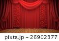 red velvet curtain opening the scene 26902377