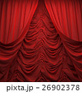 red velvet curtain opening the scene 26902378