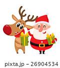 サンタ サンタクロース となかいのイラスト 26904534