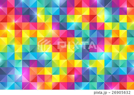 カラフル 虹色 モザイク 背景の...