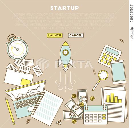 . Business analytic illustration with laptopのイラスト素材 [26906597] - PIXTA