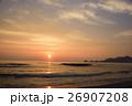 早朝の海 太陽の道 26907208