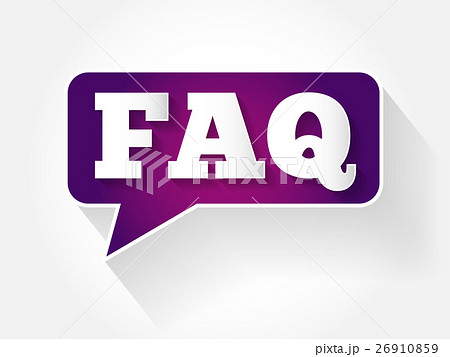 FAQ, question and answer text message bubble 26910859