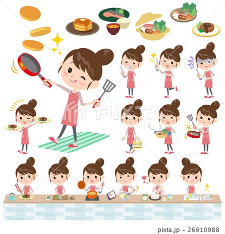 Ballet Bun hair Apron mom cooking 26910988