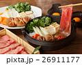 すき焼き 牛すき 鍋料理の写真 26911177