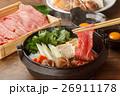 すき焼き 牛すき 鍋料理の写真 26911178