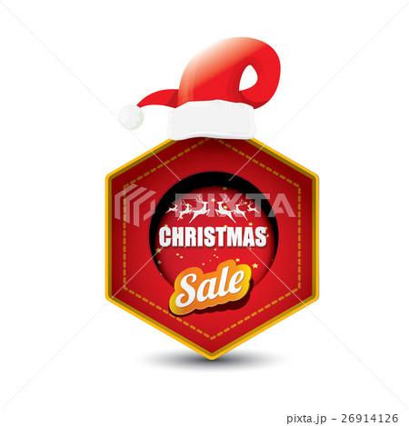 vector Christmas sales tag or labelのイラスト素材 [26914126] - PIXTA
