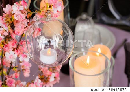 Wedding decoration for banquet with sakuraの写真素材 [26915872] - PIXTA