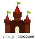 Medieval castle icon, flat style 26922806