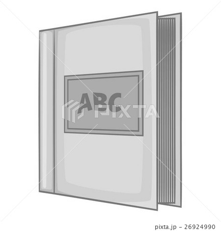 ABC book icon, gray monochrome styleのイラスト素材 [26924990] - PIXTA