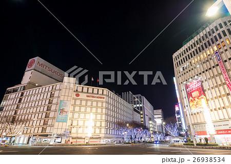 名古屋都市風景 栄交差点 大津通イルミネーション 夜景 26938534