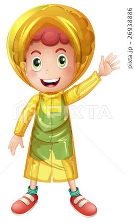 Little boy in yellow raincoat 26938886