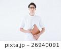 男性 看護師 白衣の写真 26940091