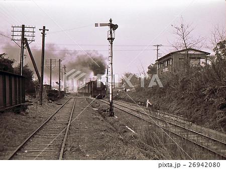 昭和42年電化前の川越線 9600蒸気機関車牽引通勤列車 26942080