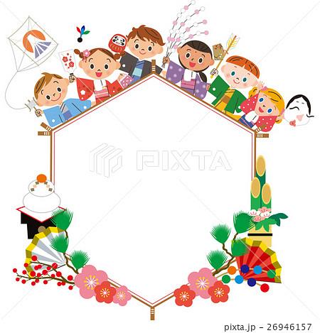新年を祝う子供達 26946157