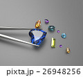 Collection of gemstones. 3D illustration 26948256