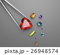 Collection of gemstones. 3D illustration 26948574