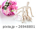 婚約指輪と花束 26948801