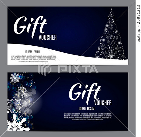 Christmas and New Year Gift Voucher, Discountのイラスト素材 [26951213] - PIXTA