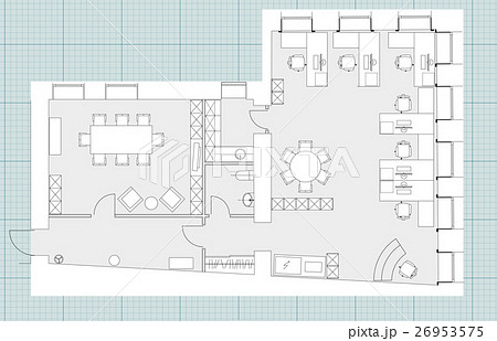 Standard office furniture symbols setのイラスト素材 [26953575] - PIXTA