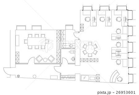 Standard office furniture symbols setのイラスト素材 [26953601] - PIXTA