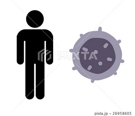 ヒトとT細胞のイラスト素材 [269...
