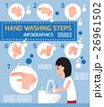 手 洗う 石鹸のイラスト 26961502