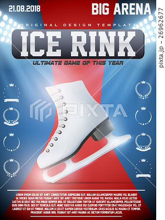 poster template of ice skating rinkのイラスト素材 26962677 pixta