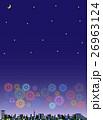 花火 打ち上げ花火 夜空のイラスト 26963124