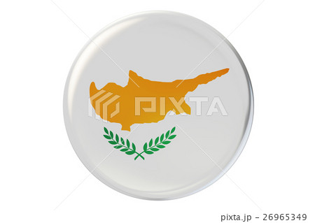 Badge with flag of Cyprus, 3D renderingのイラスト素材 [26965349] - PIXTA