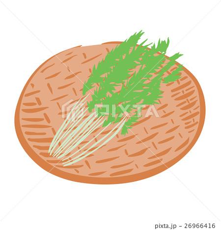 水菜 鍋 食材 ざる イラストのイラスト素材 26966416 Pixta