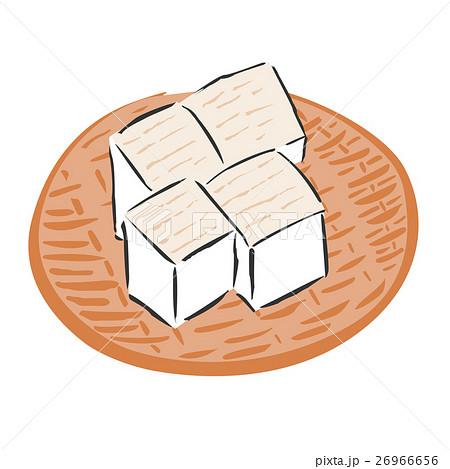 豆腐 鍋 食材 ざる イラストのイラスト素材 26966656 Pixta
