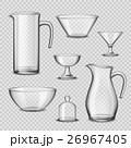 Realistic Glassware Kitchen Utensils Transparent 26967405