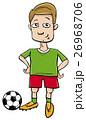 football player character cartoon 26968706