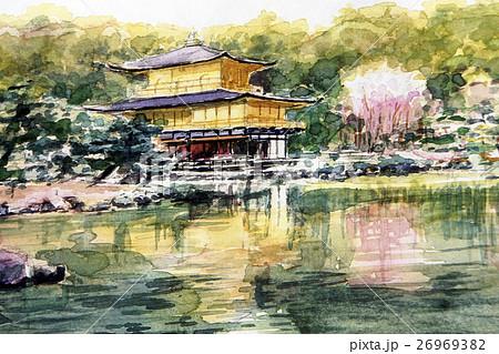 金閣寺のスケッチ 世界遺産 京都観光 26969382