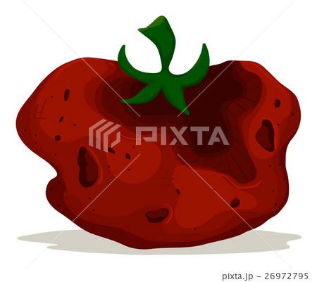 rotten tomato on white backgroundのイラスト素材 26972795 pixta