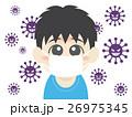 風邪 マスク 予防のイラスト 26975345