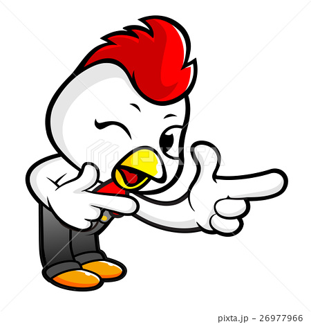 Chicken character is points a finger one direction chicken character is points a finger one direction voltagebd Choice Image