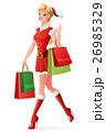 クリスマス コスチューム 女性のイラスト 26985329