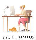 女性 ベクトル 仕事のイラスト 26985354